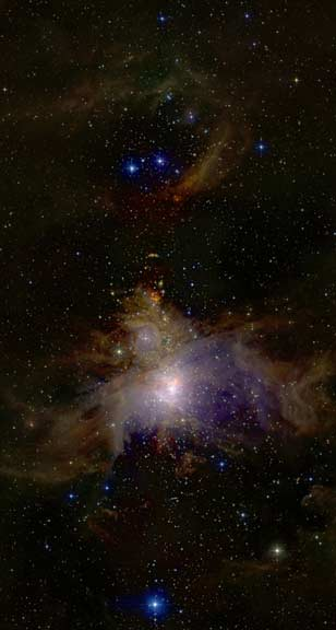 Orion as seen by the 2-Micron All-sky Survey (2MASS)
