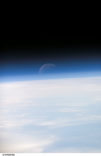 The Moon from Earth orbit