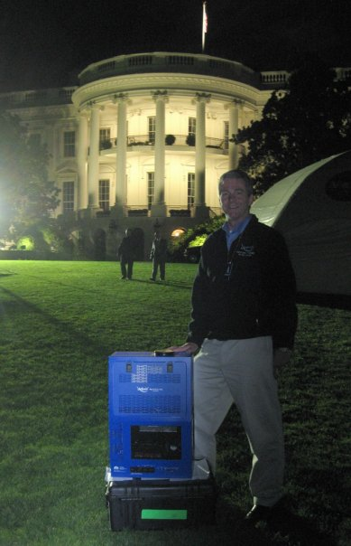 Martin Ratcliffe and the Sky-Skan system at the White House. Image copyright Martin Ratcliffe, used by permission.