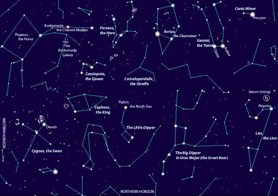 Night sky chart by TheSpacewriter. (Click on the image to get a larger version