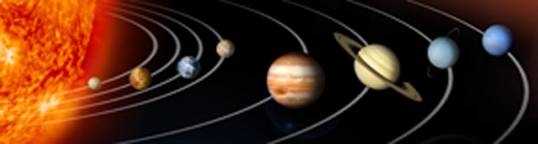 graphic of solar system